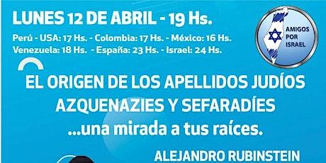 VIDEOCONFERENCIA: EL ORIGEN DE LOS APELLIDOS JUDÍOS boletos