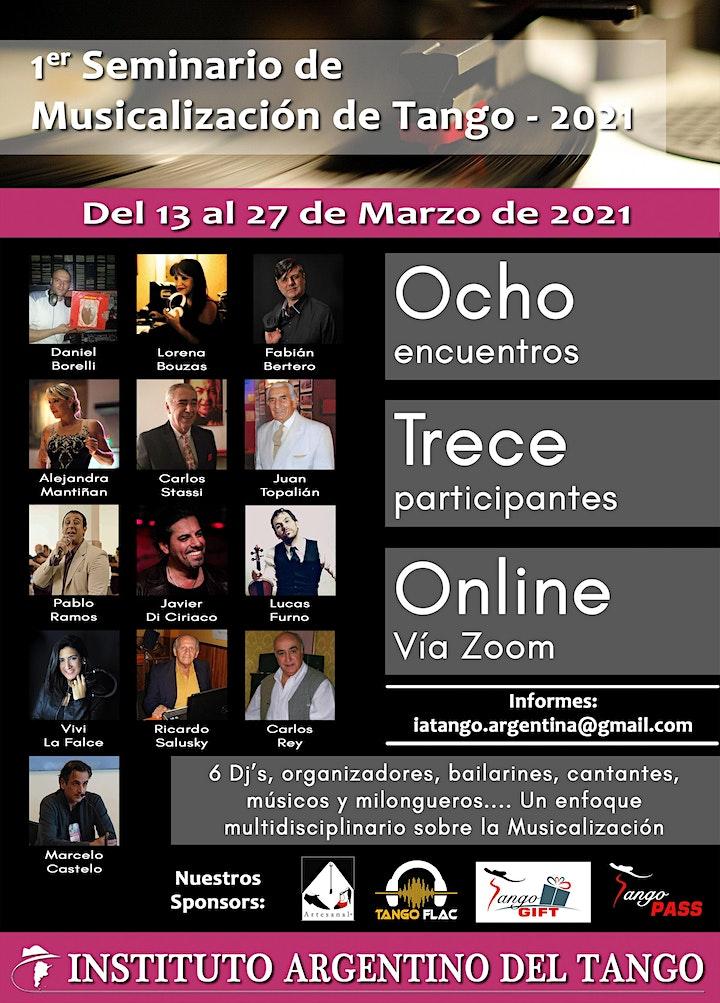 Imagen de 1er SEMINARIO DE MUSICALIZACIÓN DE TANGO 2021 - PEDIDO DE INFORMES
