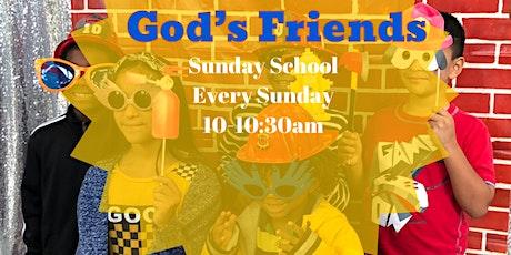 God's Friends: Sunday School tickets