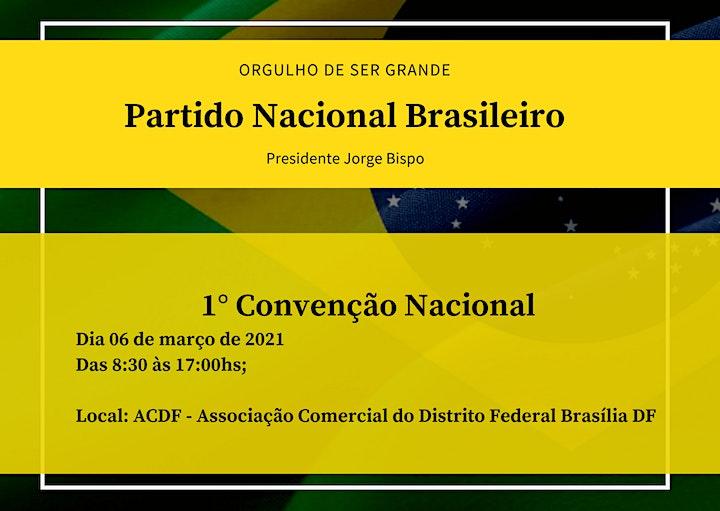 Imagem do evento 1° Convenção  Nacional