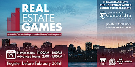 The 2021 Real Estate Games - NOVICE LEVEL tickets