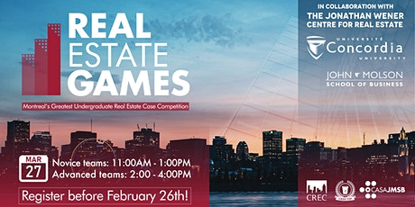 The 2021  Real Estate Games - ADVANCED LEVEL tickets