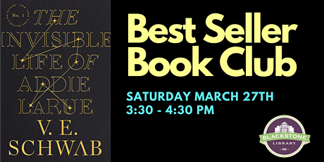 Best Seller Book Club: The Invisible Life of Addie LaRue by V. E. Schwab tickets