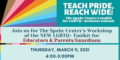Teach Pride, Reach Wide! A toolkit for LGBTQ+  inclusive schools tickets