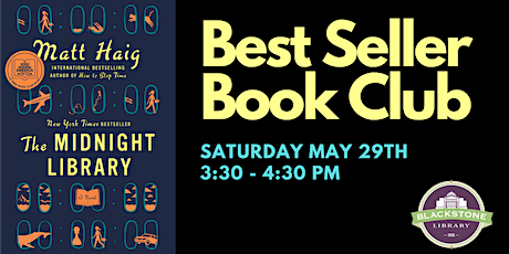 Best Seller Book Club: The Midnight Library by Matt Haig tickets