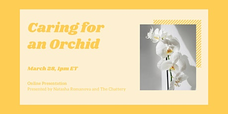 Caring for an Orchid - ONLINE CLASS tickets