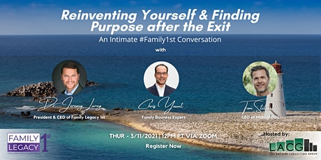 Reinventing Yourself & Finding Purpose After the Exit tickets