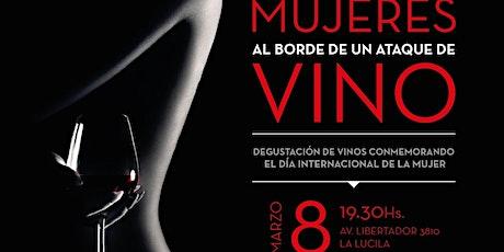 Mujeres al borde de un ataque de vino entradas