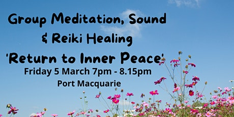 Group Meditation, Sound & Reiki Healing, 'Return to Inner Peace' tickets
