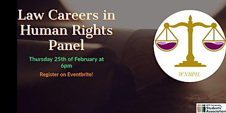 Law Careers in Human Rights Panel tickets