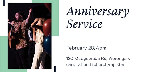 Liberti Carrara Anniversary Service - 4pm 28th of February tickets
