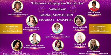 """DON'T QUIT""  Entrepreneurs Reaping  Your Best Life Now! tickets"