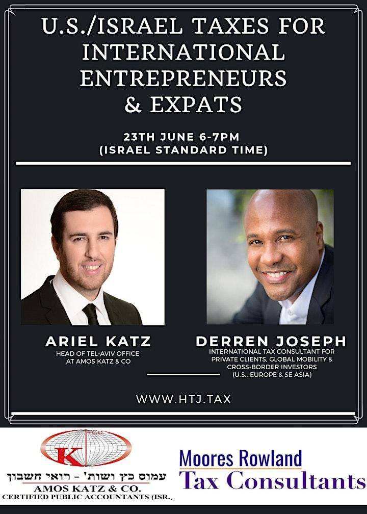 (WEBINAR) U.S. / Israel Taxes for International Entrepreneurs & Expats. image