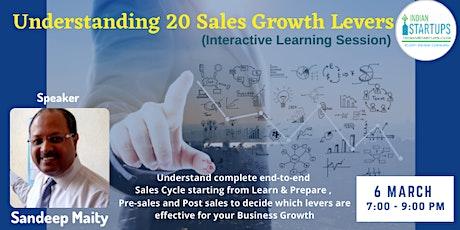 Masterclass: Understanding 20 Sales Growth Levers tickets