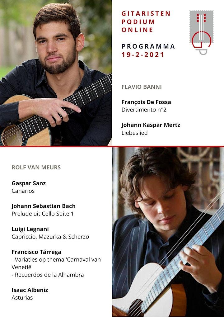 Afbeelding van Online Gitaarconcert: Rolf van Meurs met voorprogramma door Flavio Banni