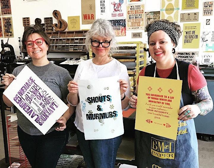 Letterpress Workshop  May 29! image