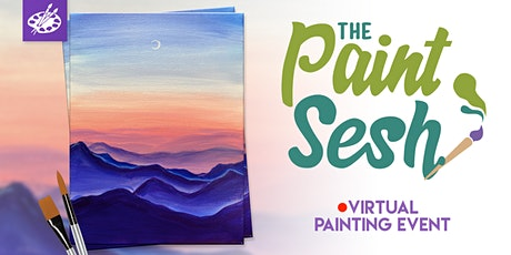 "Online Painting Class – ""Serenity"" (Virtual Paint Night at Home) tickets"