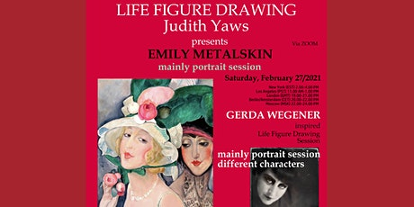 LIFE drawing portrait Session with Emily Metalskin insp. by Gerda Wegener tickets