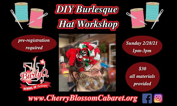 DIY Burlesque Hat/ Fascination Workshop image