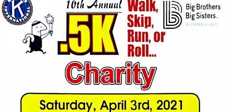 Jacksonville Kiwanis 10th Annual .5k Charity Walk, Skip, Run, or Roll... tickets