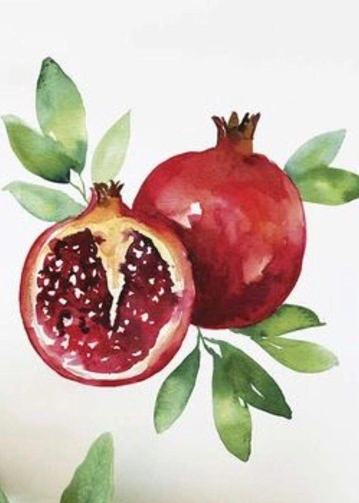 Wednesday Night Watercolours  (Live Online) image