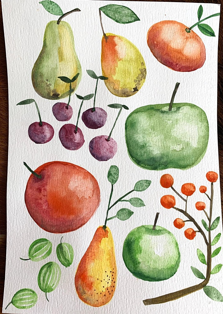 Thursday Afternoon Watercolours  (Live Online) image