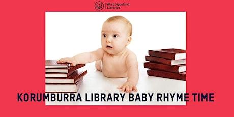Korumburra Library Baby Rhyme Time tickets