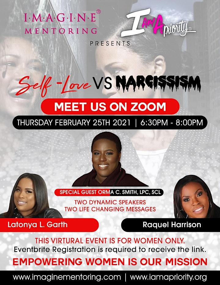 IMAGINE & I AM A PRIORITY PRESENTS: SELF-LOVE VS NARCISSISM image