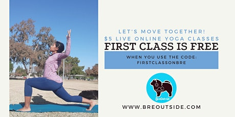 BreOutside Free Virtual Zoom Community Yoga Class | Donation Based tickets