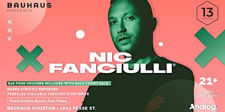 Bauhaus Presents: Nic Fanciulli tickets