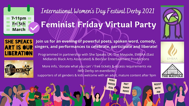 Feminist Friday Virtual Party image