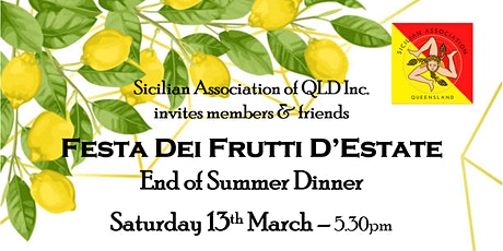 SOLD OUT-Italian Dinner Dance with a Sicilian twist - Festa Dei Frutti tickets
