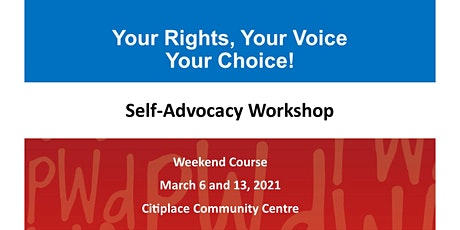 PWdWA Your Rights, Your Voice, Your Choice Weekend Course tickets