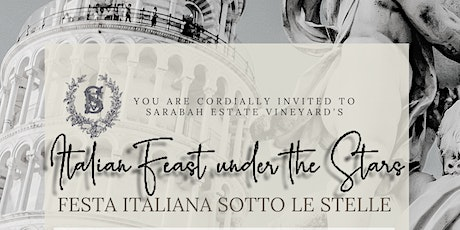 Italian Feast Under the Stars - New Event for Sarabah Winery 2021 tickets