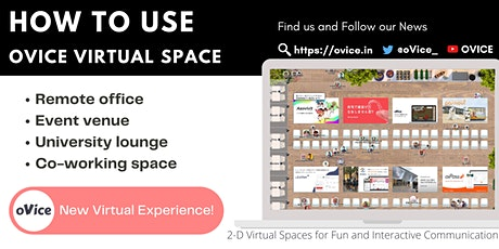 How to Use oVice Virtual Space Remotely[Beginner Training] tickets