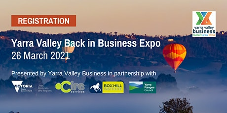 Yarra Valley Business Expo - Registration for stall holders tickets