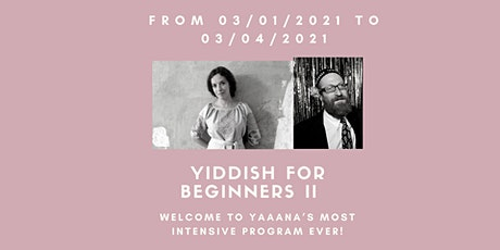 Yiddish for Beginners 2 Package tickets