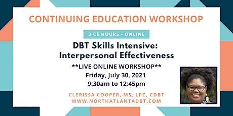 DBT Skills Intensive: Interpersonal Effectiveness tickets