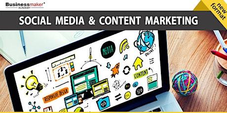 Live Webinar: Social Media & Content Marketing tickets