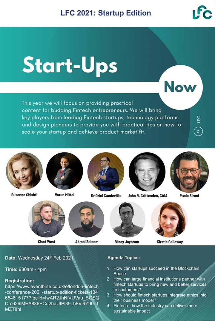 London Fintech Conference 2021: Startup Edition image