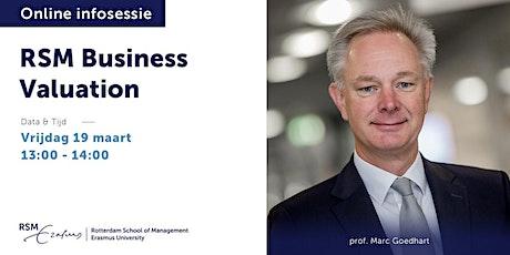 Online informatiesessie RSM Business Valuation - 19 maart 2021 tickets