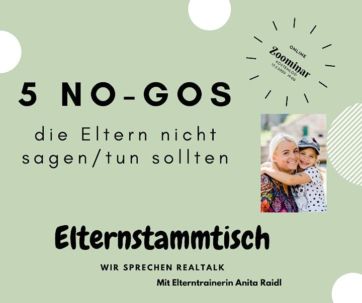 Elternstammtisch - wir sprechen Realtalk  - 5 No-Gos: Bild