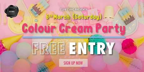 2021.03.06  Colour Cream Party tickets