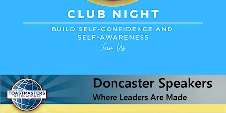 Doncaster Speakers Club Night tickets