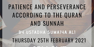 Patience and Perseverance according to the Qur'an and Sunnah