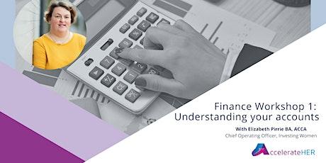 Finance Workshop 1: Understanding your accounts tickets