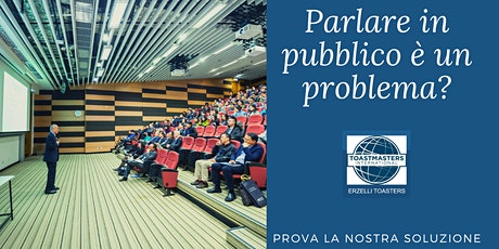 Public Speaking con metodo Toastmasters ONLINE ..a Genova biglietti