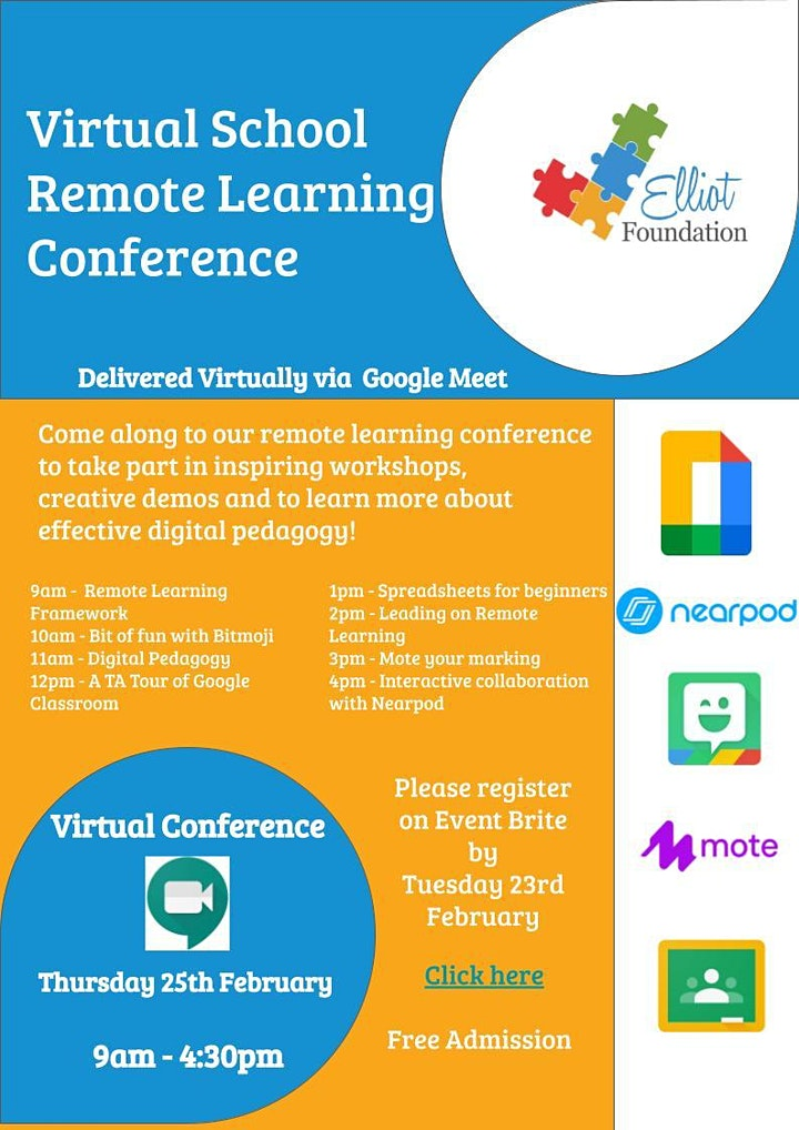 Virtual School Remote Learning Conference image