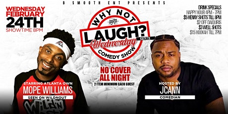 B Smooth Presents Katy Tx Why Not Laugh ? Wednesday Comedy Show tickets