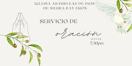 Culto Oración 7:30pm entradas